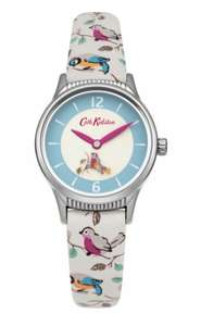 ladies cath kidston little birds rotating disc strap watch £31.50 delivered with code @ The watch hut
