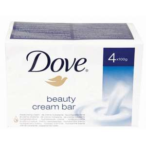 Dove beauty Cream Bar Soap 4 pack £1.59 @ Poundstretchers