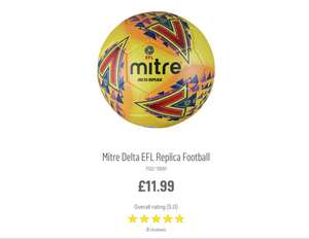 Argos - mitre EFL replica football for £1.99 using Argos email voucher code