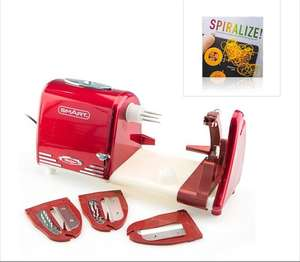 All in One Electric Spiralizer Peel and Prepare and Spiralizer Recipe Book £5.99 delivered @ Ideal World