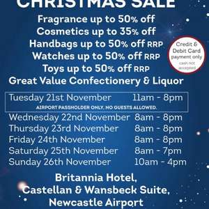 Newcastle Airport World Duty Free Sale
