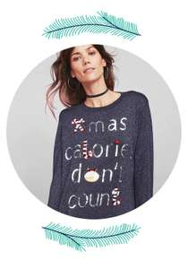 25% off Christmas shop and ALL knitwear. In store only  at matalan