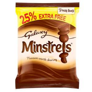 Galaxy Minstrels 110g Reduced to 25p @ Poundstretcher