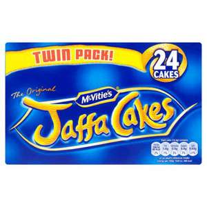 Mcvittie's Jaffa Cakes Twin Pack 300g - 24 Cakes Reduced to 25p @ Poundstretcher