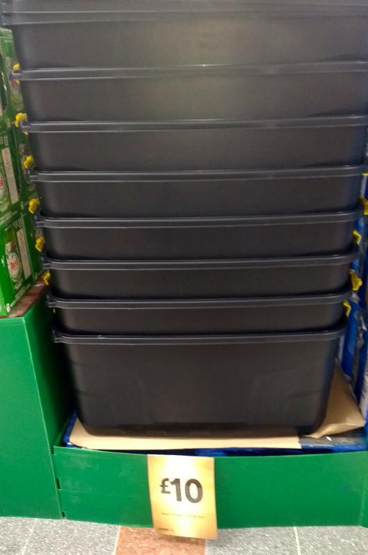 Black Storage Box 145 Litres £10 @ Morrisons instore