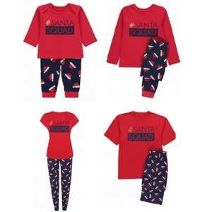 Matching Family Santa Squad Pyjamas starting from £5 C+C @ Asda George