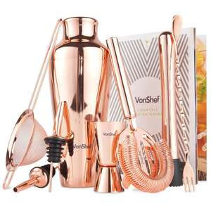 VonShef 9pc Copper Parisian Cocktail Set - £24.99 @ Domu