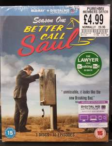 Better Call Saul Season 1 Blu-ray £4.99 (PureHMV card members) @ HMV