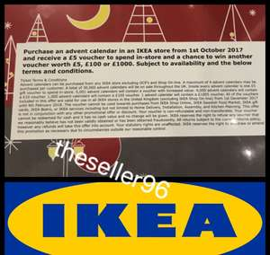 Free £5 IKEA voucher when you purchase a IKEA advent calendar for £2.50