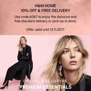 H&M Home 10% off and free delivery