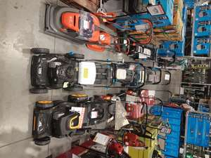 Ex-dislay lawnmower's half price instore at B&Q Warehouse, Newcraighall