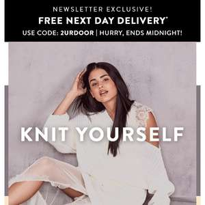 Boohoo.com free next day delivery