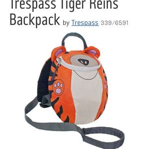 Argos Trespass Tiger reins backpack £7.49