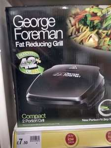 GEORGE FOREMAN COMPACT 2-PORTION GRILL £7.50 instore at Wilkinsons stores.