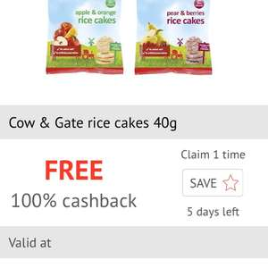 Free Cow & Gate Rice Cakes via checkoutsmart