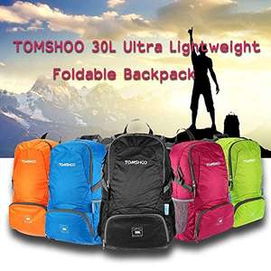 35% off on  30L Backpack Foldable Pack £8.50 prime / £12.43 non prime Sold by TOMSHOP and Fulfilled by Amazon.