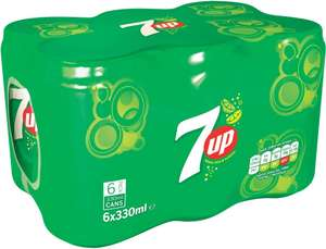 7 Up (6x330ml) One Pack £1.75 but buy 2 packs and get them for £3.00 (25p a Can) @ Iceland