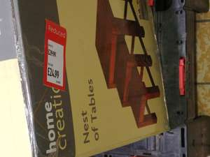 Nest tables real wood set of 3 £24.99 @ Aldi instore - Bournemouth