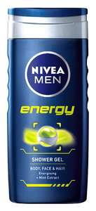 Nivea Men Shower Gel - 500ml Jumbo - TESCO + Checkoutsmart (Sport, Energy, Cool Kick, Sensitive, Power Refresh)