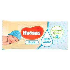 Huggies Pure baby wipes 56s, two for £1.10 (55p each) @ Waitrose w/MyWaitrose card