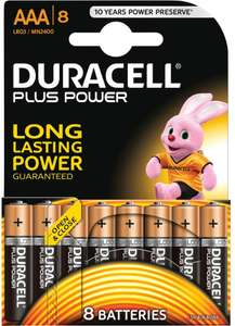 Duracell Plus Power AAA Batteries (8 Pack) £3.50 @ Sainsbury's