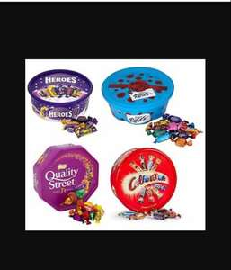 Quality Street, Celebrations, Roses & Heroes Tubs 2 for £7 @ Tesco instore