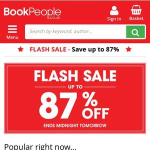 Flash Sale @ The Book People
