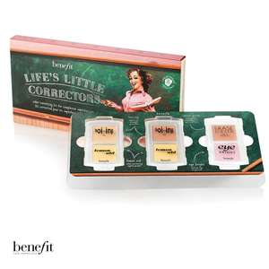Get Benefit life's little correctors kit worth £56.64 for £15 on O2 priority