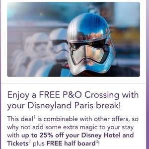 Free P&O Ferry Crossing with Disneyland booking.