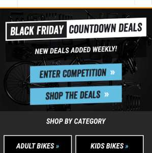 Halfords Black Friday countdown deals