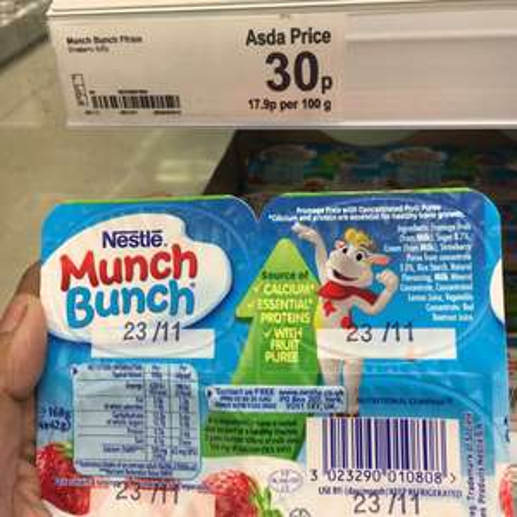 Munch Bunch Yogurts 30p for 4 tubs Asda Straiton