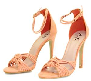 Peach suede knot front heels £4.99 / £7.94 delivered AX Paris