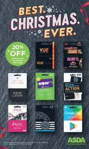 Gift Card Savings for Christmas Shopping & Black Friday - Includes new Asda instore promo -  20% off Gift Cards for  Google Play - Vue - Pizza Hut - New Look - Pizza Express - Zizzi  (see OP for full retailer list + offers)