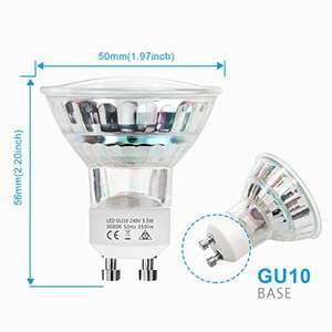 9 x LED GU10 Bulbs - £7.99 (Lightning Deal) @ Sold by You and Me (EURO) Seller and Fulfilled by Amazon.