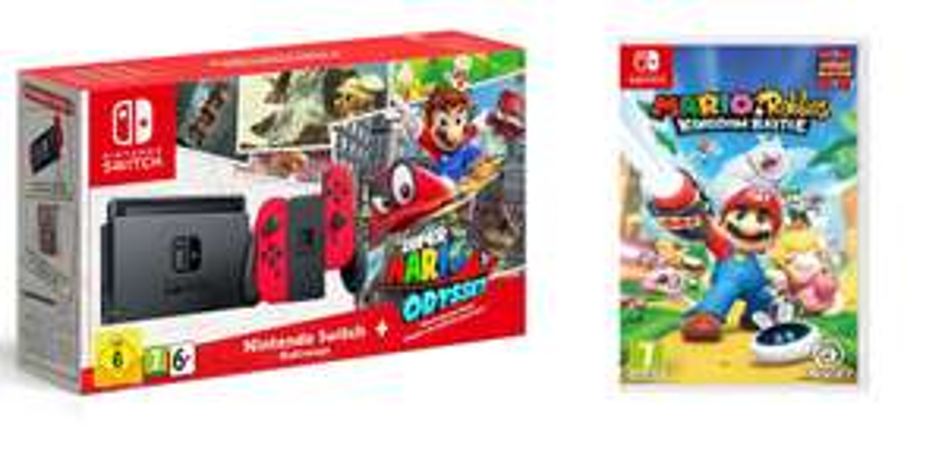 [In Stock now] Nintendo Switch Super Mario Odyssey Limited Edition + Mario Rabbids Kingdom Battle £329.99 @ Tesco Direct