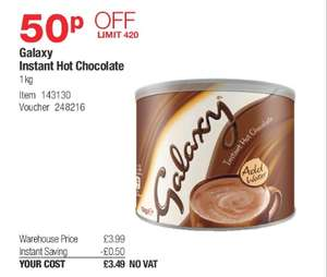 Costco: Galaxy Hot Chocolate 1 Kg Tin (instore only) - £3.49