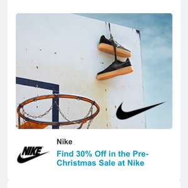 Nike pre Christmas sale 30% off