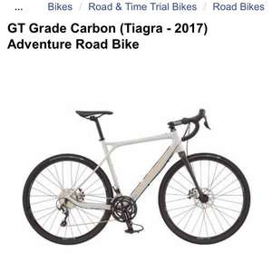 GT grade carbon adventure road bike with Tiagra 2x10 700x32c - £999.99 at Wiggle