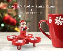 JJRC H67 Flying Santa Claus RC Drone RTF Headless Mode / One Key Return / Plug-in Block Model £7.94 Delivered with code @ RoseGal