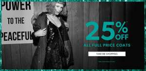 25% Off Selected Full Price Clothing inc Men's / Women's / Teen's Coats / Knitwear / Footwear instore / online @ New Look - Stacks with 20% Off New Look Gift Card Offer @ Tesco