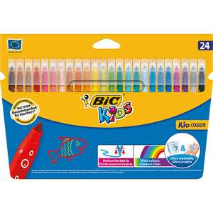 BIC Kids Kid Couleur Colouring Pens 24 Pack was £5 now £2.50 Free C&C @ Wilko