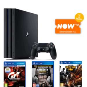 Playstation 4 pro with call of duty WWII, gt sport and infamous: second son + Now TV Pass £389.99 @ Game