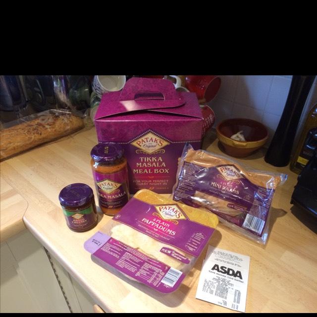 Pataks TIkka Masala meal box £1.90 at Asda - National