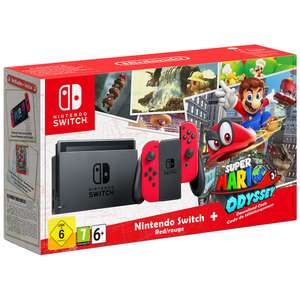 Nintendo Switch with Red Joy-Con Controllers and Super Mario Odyssey £314.99 @ Toys r us