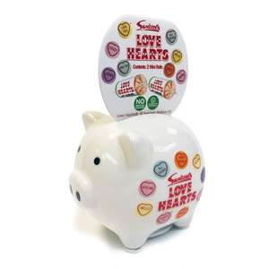 WILKO: Great Stocking Filler: Retro Love Heart or Refreshers Piggy Bank: £2.00 FREE C&C