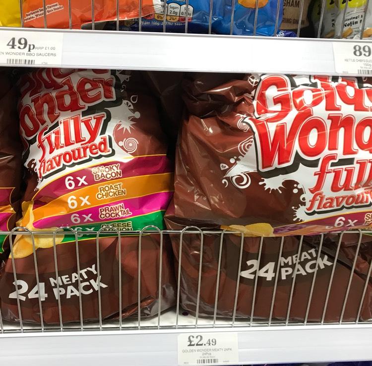 Golden Wonder 24 bag pack £2.49 @ Home Bargains