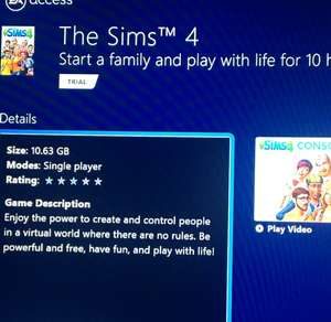 Sims 4 10 Hour Trial Now Live @ EA access
