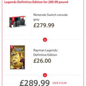 Nintendo Switch Console + Rayman Legends Definitive Edition £289.99 @ Tesco