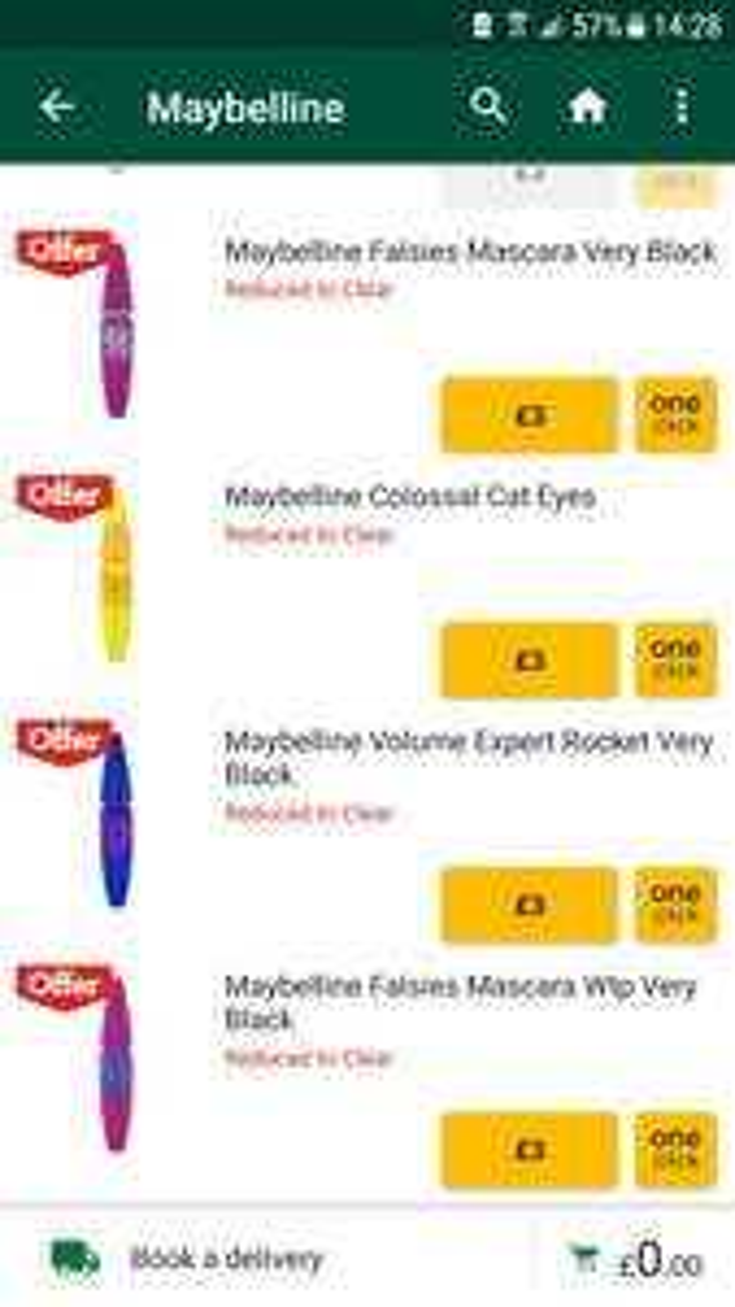 Maybelline Volume Mascara £3 @ Morrisons