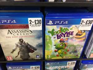 2 PS4 games for £30 including Yooka Laylee, Assassins creed Ezio collection and Watch Dogs 2 @ HMV Newcastle city centre instore